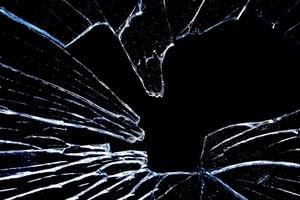 glass shattered